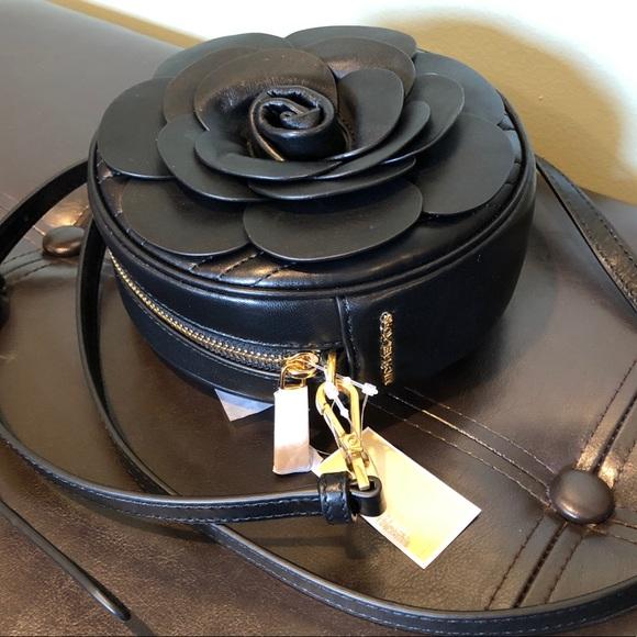 9a4c5b76c12d Michael Kors Bags   Vivianne 3d Rose Crossbody Black   Poshmark